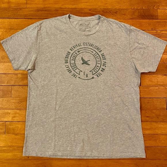 ** FREE SHIPPING ** Blue,Dark Blue,Dark Gray,Gray Eddie Bauer 2-pack Tee Shirt